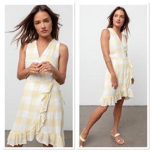 NWT Rails Madison Ruffle Sleeveless Wrap Dress S